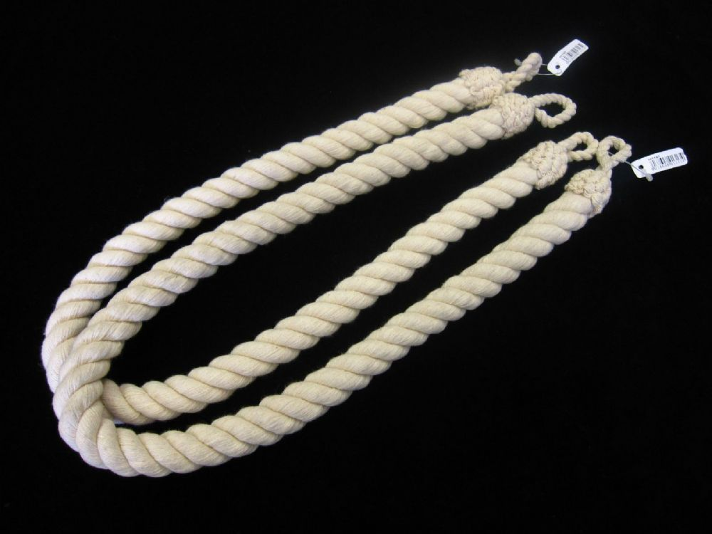 Natural Cotton Rope Tie Backs Cord Ties Cable Tiebacks